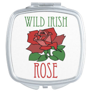 Wild irish Rose Compact Mirror
