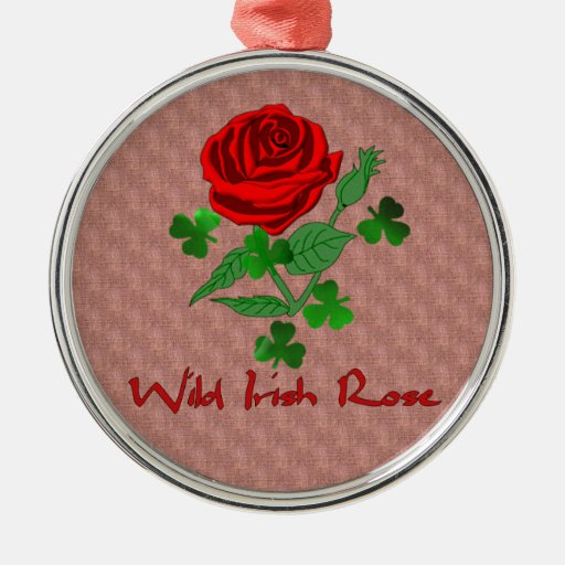 Wild Irish Rose Christmas Tree Ornament