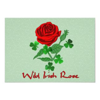 Wild Irish Rose Personalized Invitation