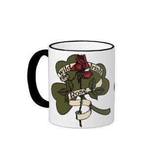 Wild Irish Rose Ringer Mug