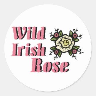 Wild Irish Rose Round Stickers