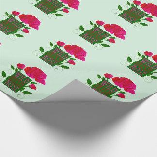Wild Irish Rose Gift Wrap Paper