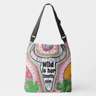 Wild Is Her Favorite Color Crossbody Bag