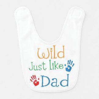 Wild Just Like Dad Bib