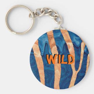 Wild Basic Round Button Key Ring