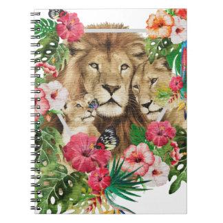 Wild King Jungle Lion Animals Spiral Note Book