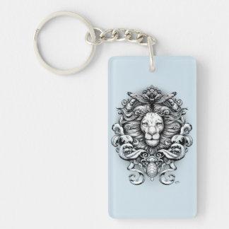 Wild Kingdom Double-Sided Rectangular Acrylic Key Ring