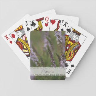 Wild lavender poker deck