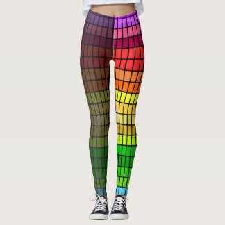 Wild Leggings with Rainbow Cubes on Black