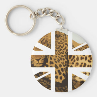Wild Leopard Jack British(UK) Flag Key Chain
