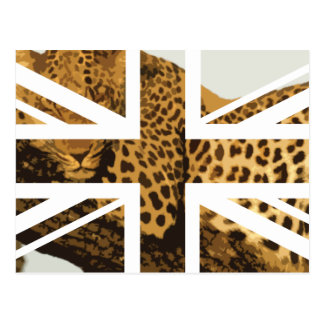 Wild Leopard Jack British UK Flag Post Cards