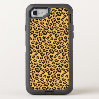 Wild Leopard or Jaguar Print Faux Fur Pattern OtterBox Defender iPhone 8/7 Case