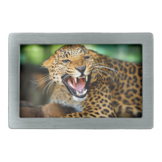 Wild Leopard Rectangular Belt Buckle