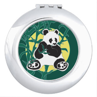 WILD LIFE BEAR  compact mirror ROUND