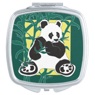 WILD LIFE BEAR  compact mirror SQUARE