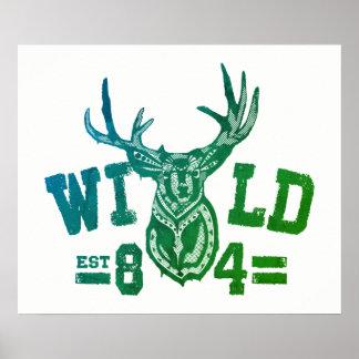 wild life t-shirt poster