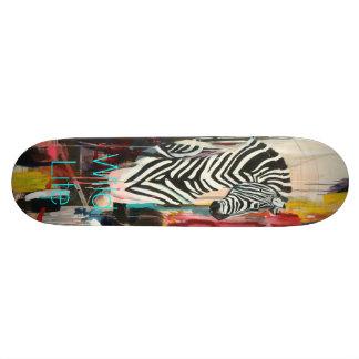 Wild Life Turquoise Skateboard Deck