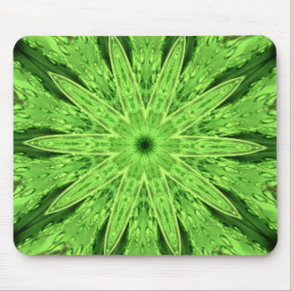 Wild Lime Green Dream Kaleidoscope Mouse Pad