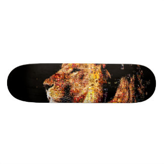 Wild lion - lion collage - lion mosaic - lion wild 19.7 cm skateboard deck