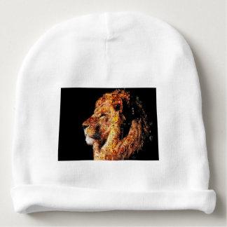 Wild lion - lion collage - lion mosaic - lion wild baby beanie