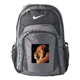 Wild lion - lion collage - lion mosaic - lion wild backpack
