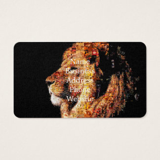 Wild lion - lion collage - lion mosaic - lion wild business card