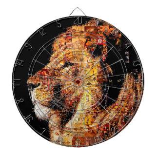 Wild lion - lion collage - lion mosaic - lion wild dartboard