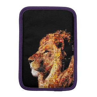 Wild lion - lion collage - lion mosaic - lion wild iPad mini sleeve