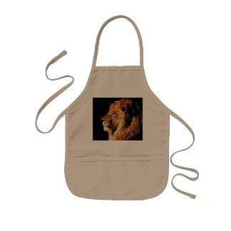Wild lion - lion collage - lion mosaic - lion wild kids apron