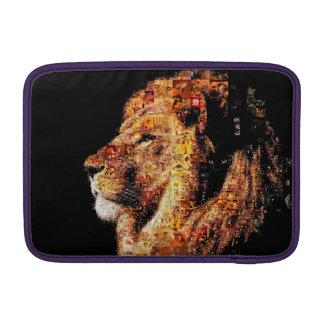 Wild lion - lion collage - lion mosaic - lion wild MacBook sleeve
