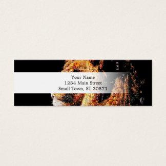 Wild lion - lion collage - lion mosaic - lion wild mini business card