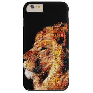 Wild lion - lion collage - lion mosaic - lion wild tough iPhone 6 plus case