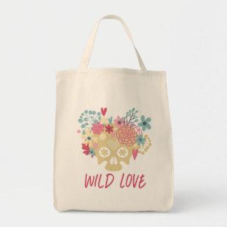 Wild Love Flowers Tote Bag