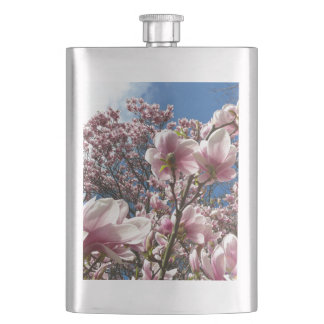 Wild magnolia (Spring, pink, Tulpenbaum) Hip Flask