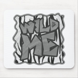 Wild Me Tiger Black and White Print Mouse Pad