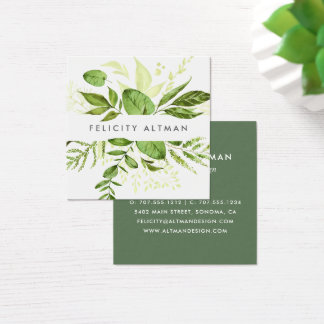 Wild Meadow | Botanical Square Business Card