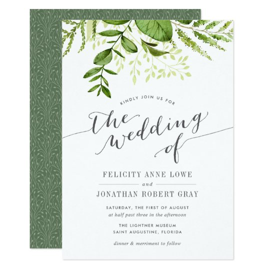 Botanical Weding Invitations 029 - Botanical Weding Invitations