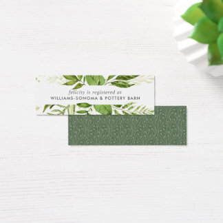Wild Meadow Bridal Registry Insert Cards | Mini