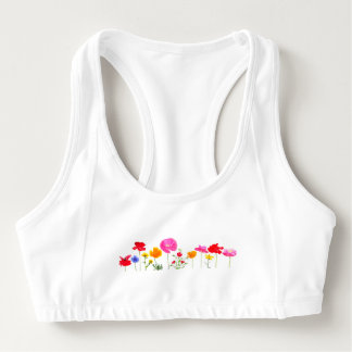 wild meadow flowers sports bra