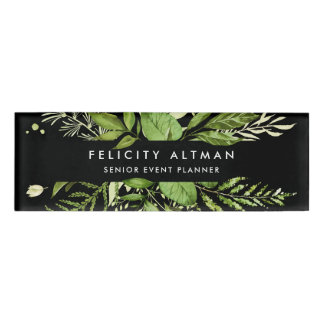 Wild Meadow | Green & Black Botanical Name Tag
