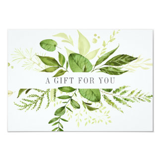 Wild Meadow | Green Botanical Gift Certificate Card
