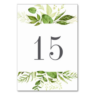 Wild Meadow Table Number Card
