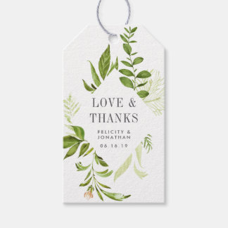 Wild Meadow Wedding Favor Gift Tags