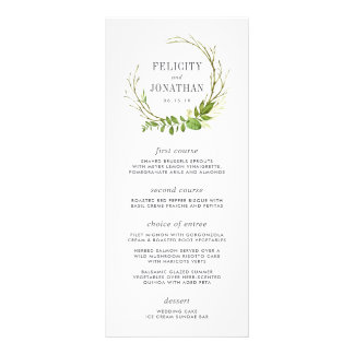 Wild Meadow Wedding Menu Card Customized Rack Card