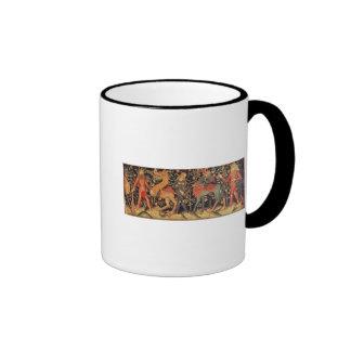 Wild Men and Animals, tapestry, 15th century Coffee Mugs
