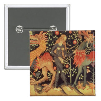 Wild Men and Animals tapestry 15th century Pins