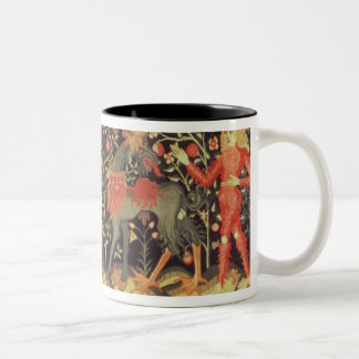 Wild Men and Animals, tapestry, 15th century Two-Tone Coffee Mug