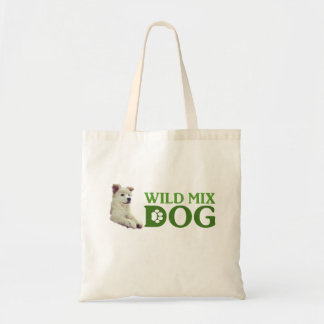 Wild mixed dog tote bag