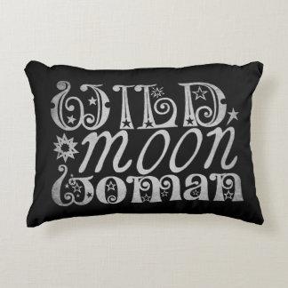 Wild Moon Woman Decorative Cushion