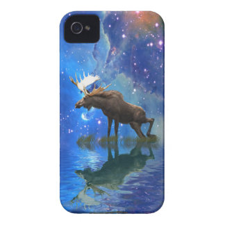 Wild Moose & Starry Skies Wildlife Cell Phone Case